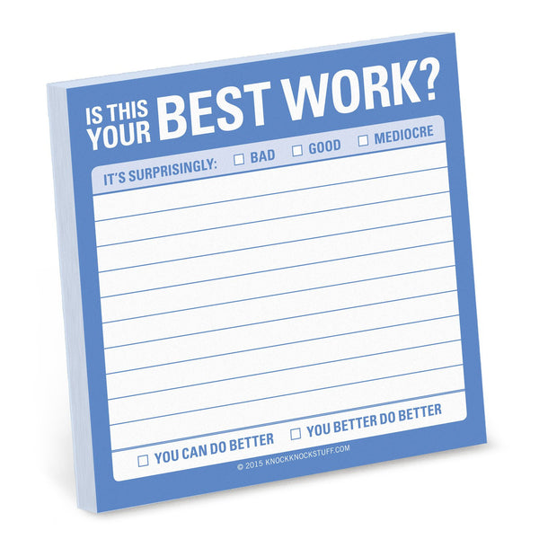 'Is This Your Best Work?' Sticky Notes - The Little Bookish Gift Co - 1