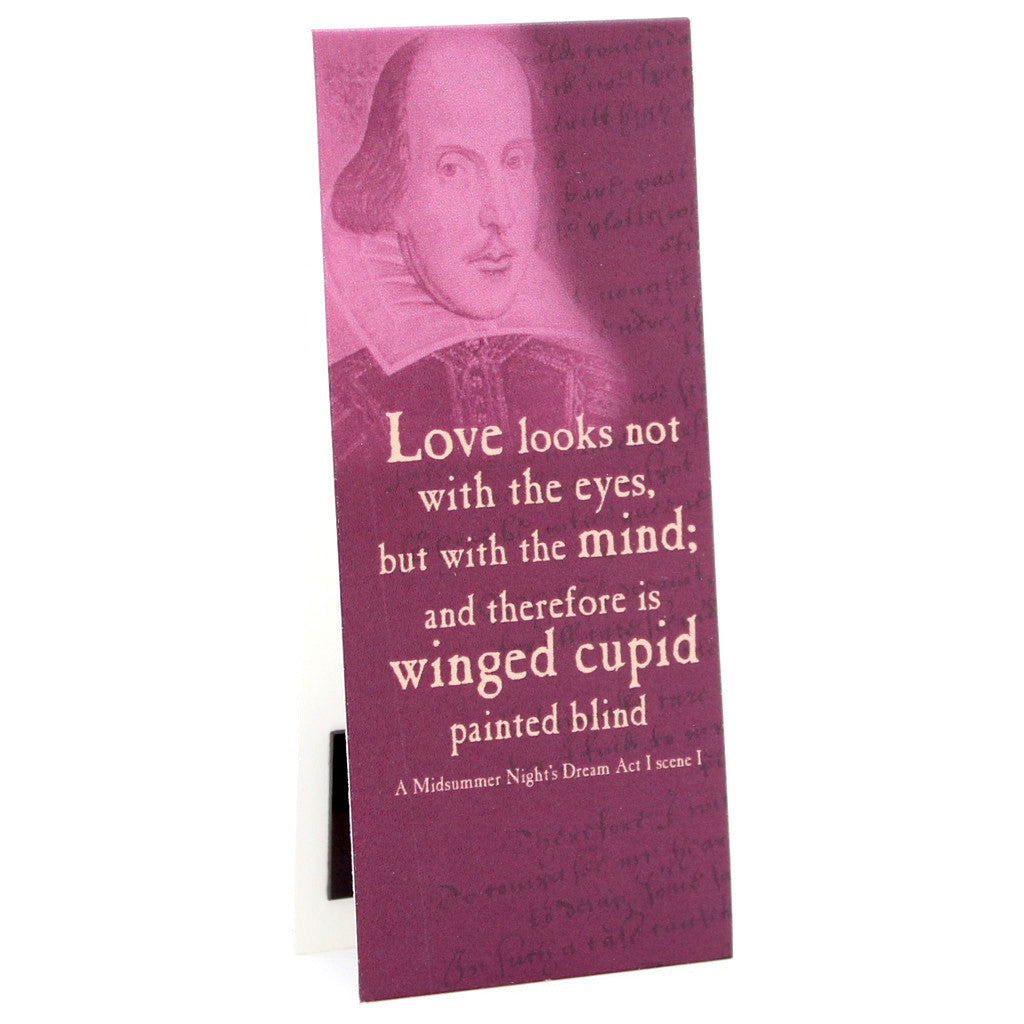 'Love Looks Not...' Shakespeare Quote Bookmark - The Little Bookish Gift Co - 1
