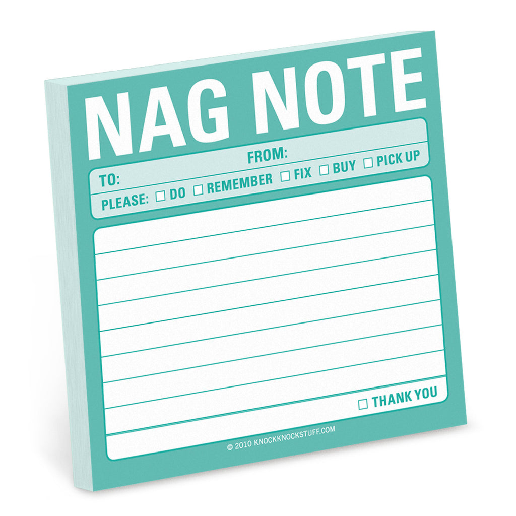 'Nag Note' Sticky Notes - The Little Bookish Gift Co - 1