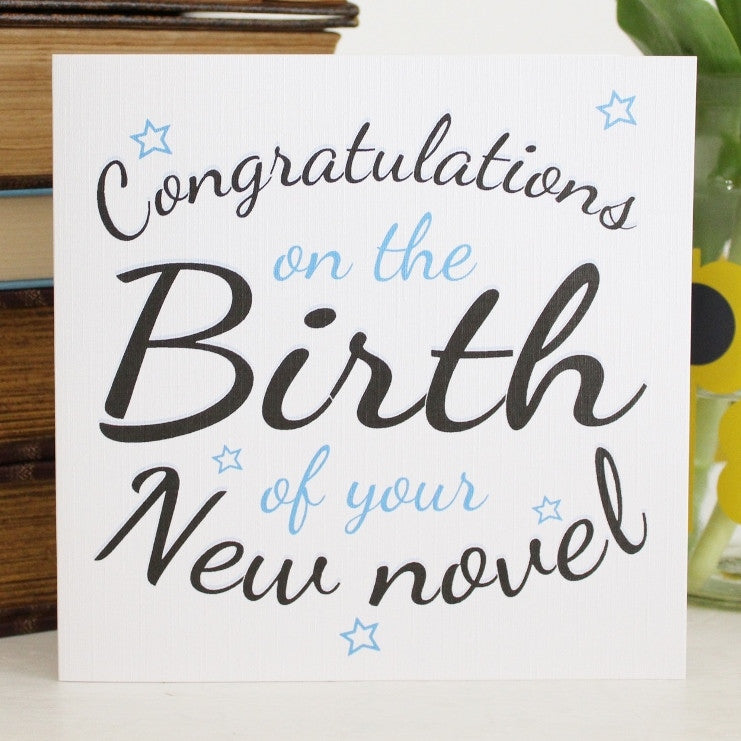 'New Novel' Greetings Card - The Little Bookish Gift Co - 1