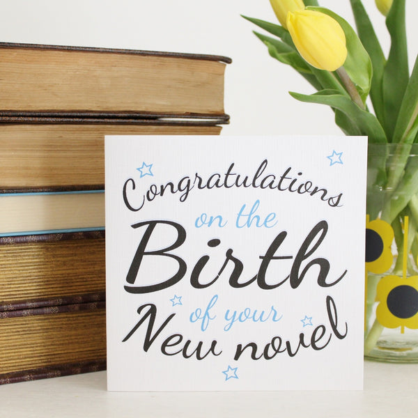 'New Novel' Greetings Card - The Little Bookish Gift Co - 2