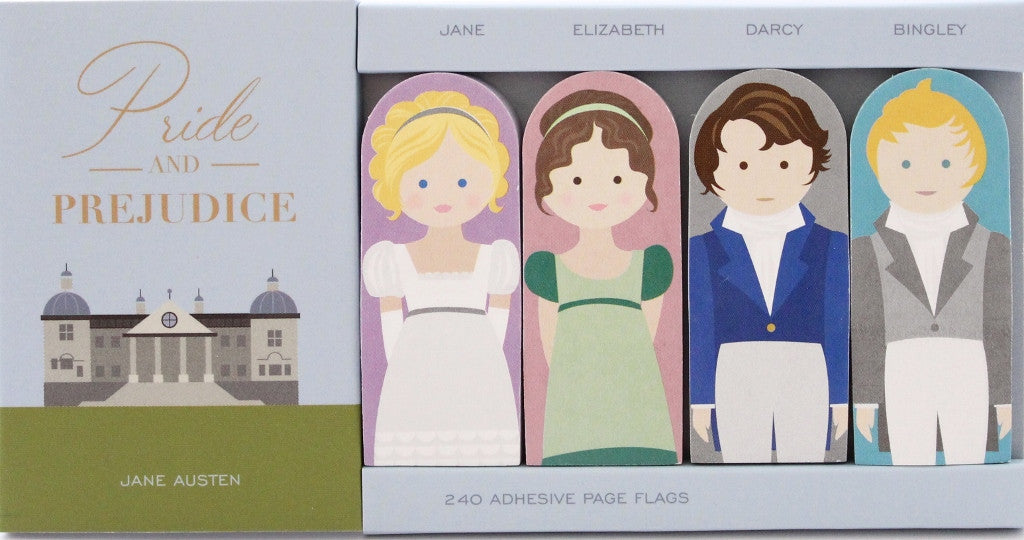 Pride & Prejudice Adhesive Flags - The Little Bookish Gift Co