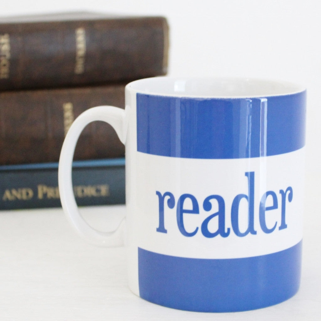 'Reader' Mug ~ Blue - The Little Bookish Gift Co - 1
