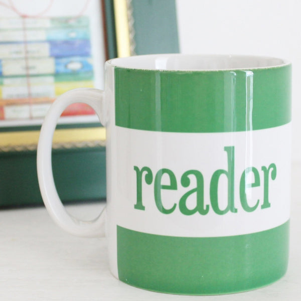 'Reader' Mug ~ Green - The Little Bookish Gift Co - 1