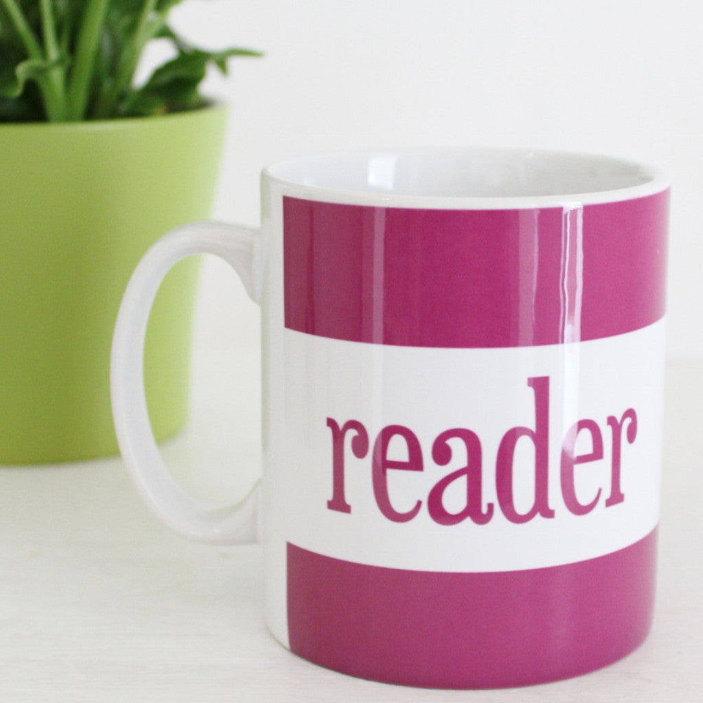 'Reader' Mug ~ Purple - The Little Bookish Gift Co - 1