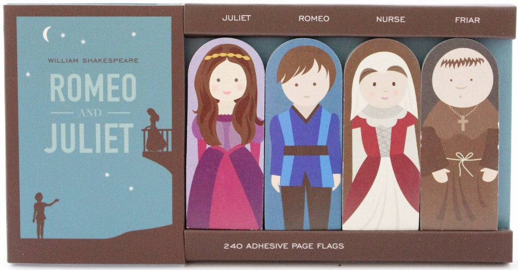 Romeo & Juliet Adhesive Flags - The Little Bookish Gift Co