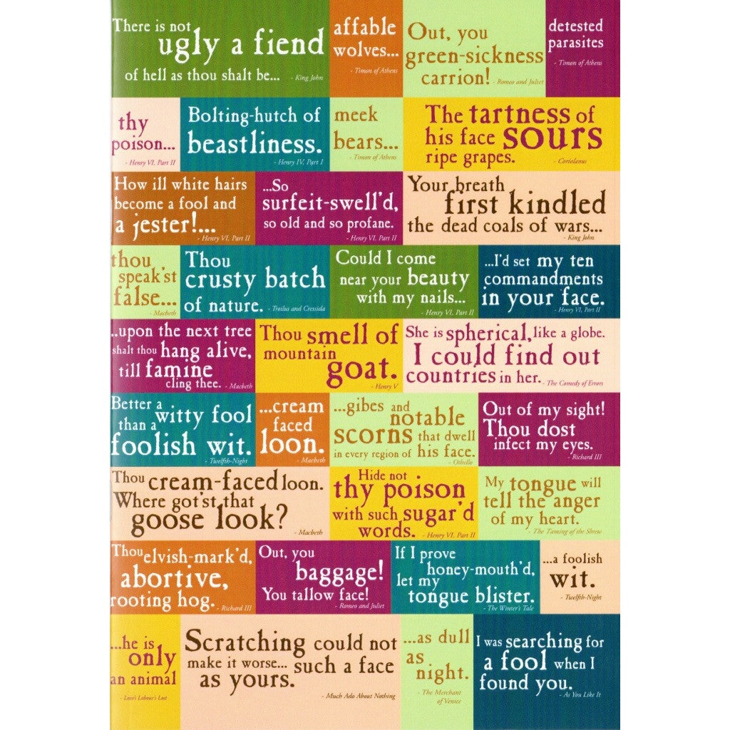 A5 Lined Exercise Book - Shakespeare's Insults - The Little Bookish Gift Co - 1