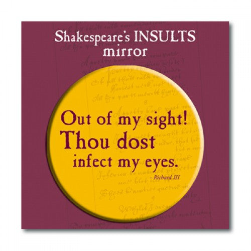 Out of my Sight! Pocket Mirror - Shakespeare's Insults - The Little Bookish Gift Co - 2