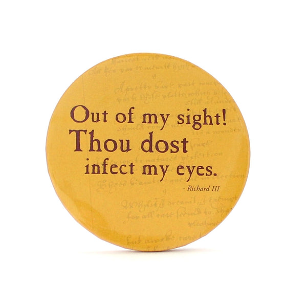 Out of my Sight! Pocket Mirror - Shakespeare's Insults - The Little Bookish Gift Co - 1