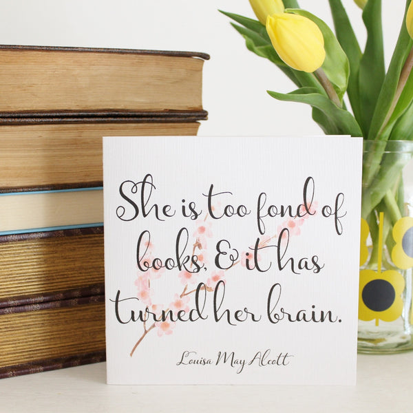 'Louisa M. Alcott Quote' Greetings Card - The Little Bookish Gift Co - 2