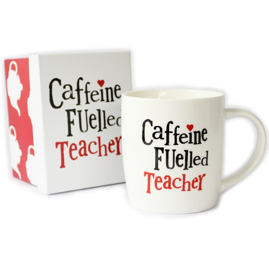 Caffeine Fuelled Teacher - Gift-Boxed Mug - The Little Bookish Gift Co