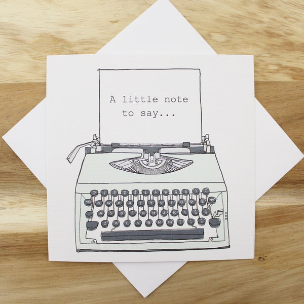 'Typewriter' Greetings Card - The Little Bookish Gift Co - 3
