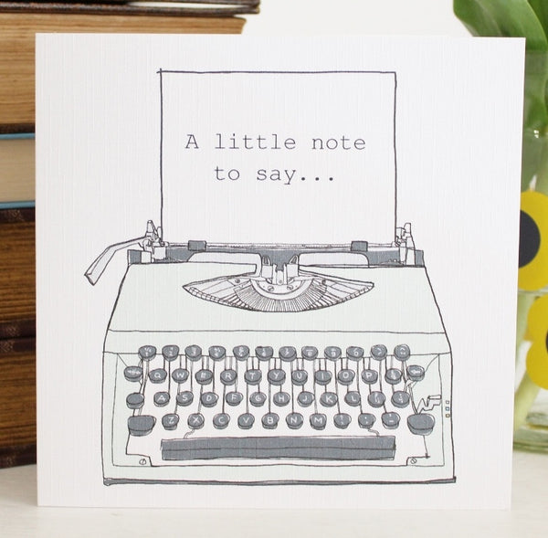 'Typewriter' Greetings Card - The Little Bookish Gift Co - 1