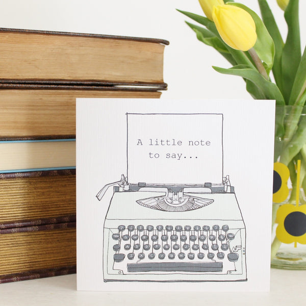 'Typewriter' Greetings Card - The Little Bookish Gift Co - 2