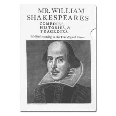 Shakespeare's First Folio Document Folder - The Little Bookish Gift Co