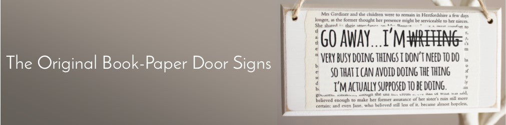 The Original Book-Paper Door Signs
