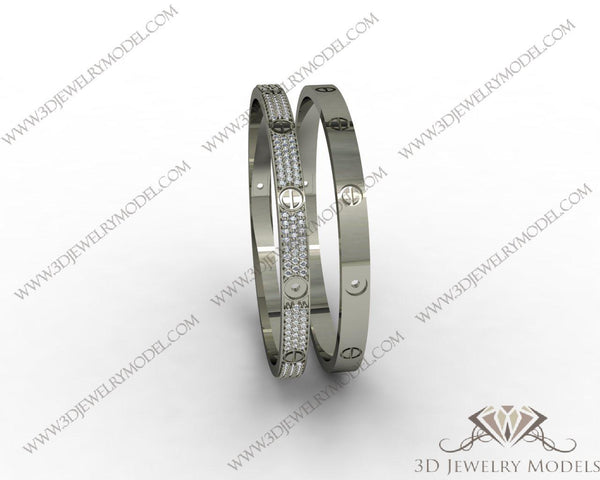 CAD CAM 3D JEWELRY MODELS 3DM STL FILES WAX 3D PRINTING BRACELET 00118 - 3D Jewelry Models - 1