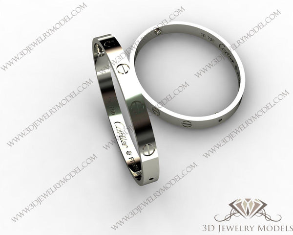 CAD CAM 3D JEWELRY MODELS 3DM STL FILES WAX 3D PRINTING RING ROUND 00049