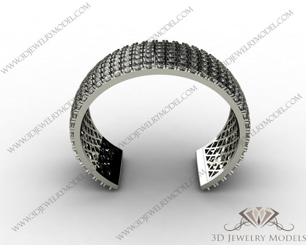 CAD CAM 3D JEWELRY MODELS 3DM STL FILES WAX 3D PRINTING BRACELET ROUND 00094 - 3D Jewelry Models - 1