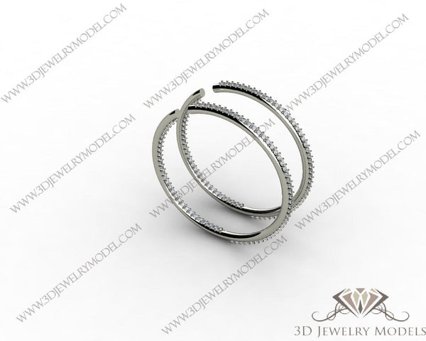 CAD CAM 3D JEWELRY MODELS 3DM STL FILES WAX 3D PRINTING EARRING 00105 - 3D Jewelry Models - 1