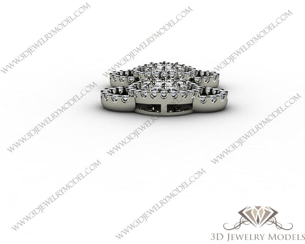 CAD CAM 3D JEWELRY MODELS 3DM STL FILES WAX 3D PRINTING RING 00063