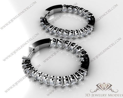 CAD CAM 3D JEWELRY MODELS 3DM STL FILES WAX 3D PRINTING EARRING OVAL 02741