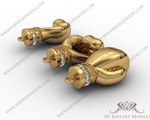 CAD CAM 3D JEWELRY MODELS 3DM STL FILES WAX 3D PRINTING OTHER 00448 - 3D Jewelry Models - 1