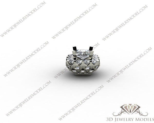 CAD CAM 3D JEWELRY MODELS 3DM STL FILES WAX 3D PRINTING OTHER CUSHION 02733