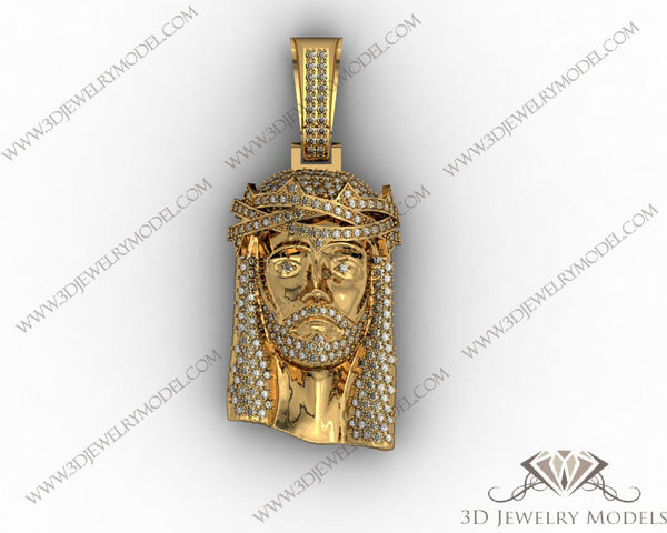 CAD CAM 3D JEWELRY MODELS 3DM STL FILES WAX 3D PRINTING PENDANT 00269 - 3D Jewelry Models - 1