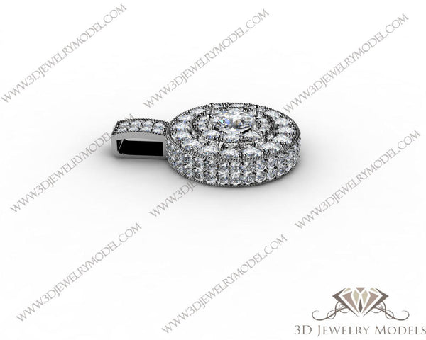 CAD CAM 3D JEWELRY MODELS 3DM STL FILES WAX 3D PRINTING RING ROUND 00395