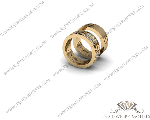 CAD CAM 3D JEWELRY MODELS 3DM STL FILES WAX 3D PRINTING RING 00014 - 3D Jewelry Models - 1