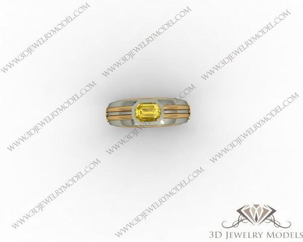 CAD CAM 3D JEWELRY MODELS 3DM STL FILES WAX 3D PRINTING RING 00126 - 3D Jewelry Models - 1