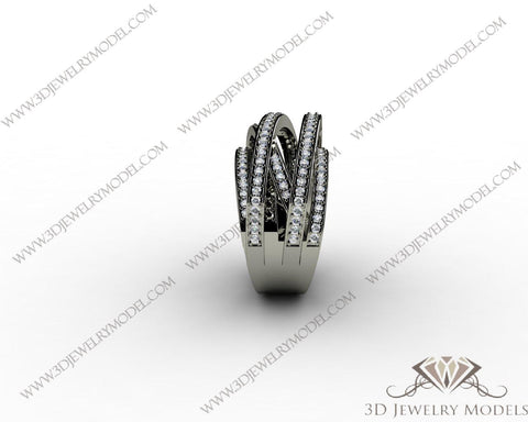 CAD CAM 3D JEWELRY MODELS 3DM STL FILES WAX 3D PRINTING RING 00129 - 3D Jewelry Models - 1