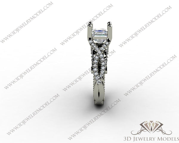 CAD CAM 3D JEWELRY MODELS 3DM STL FILES WAX 3D PRINTING RING 00137 - 3D Jewelry Models - 1