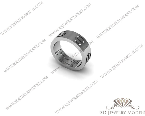 CAD CAM 3D JEWELRY MODELS 3DM STL FILES WAX 3D PRINTING RING 00147 - 3D Jewelry Models - 1