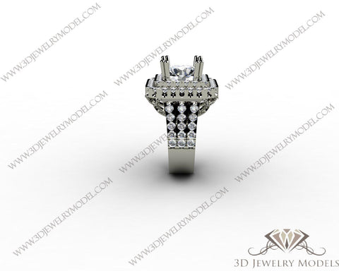 CAD CAM 3D JEWELRY MODELS 3DM STL FILES WAX 3D PRINTING RING 00162 - 3D Jewelry Models - 1