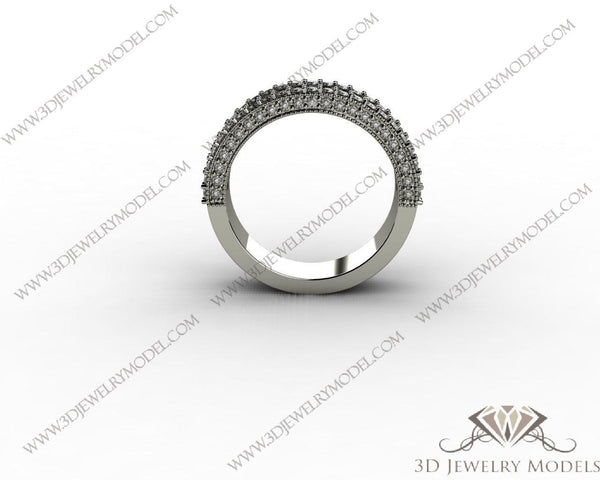 CAD CAM 3D JEWELRY MODELS 3DM STL FILES WAX 3D PRINTING RING 00168 - 3D Jewelry Models - 1