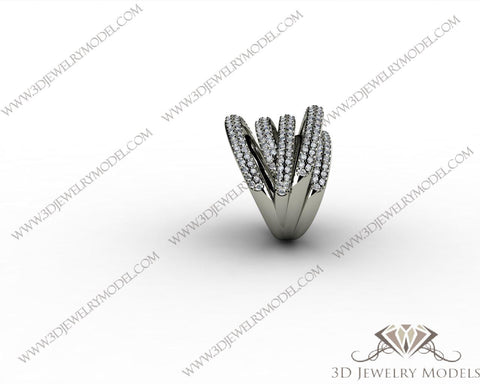CAD CAM 3D JEWELRY MODELS 3DM STL FILES WAX 3D PRINTING RING 00244 - 3D Jewelry Models - 1