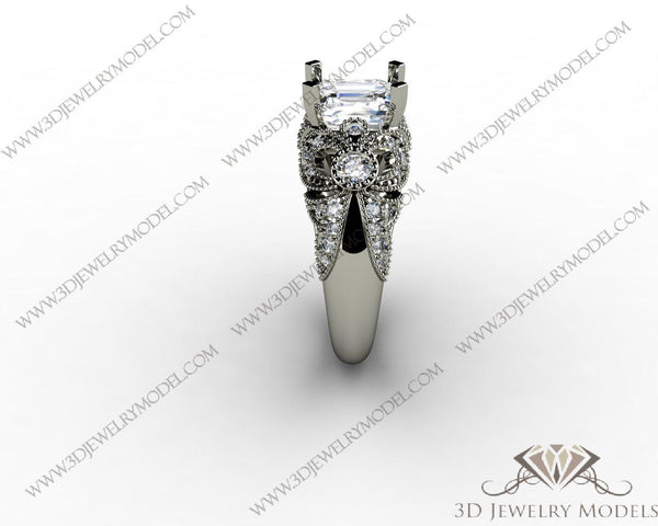 CAD CAM 3D JEWELRY MODELS 3DM STL FILES WAX 3D PRINTING RING 00283 - 3D Jewelry Models - 1