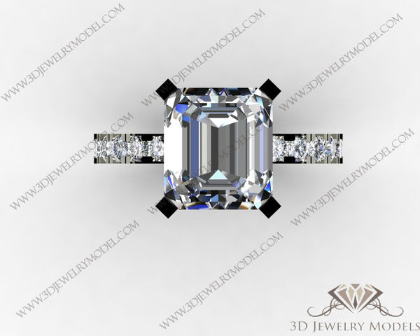 CAD CAM 3D JEWELRY MODELS 3DM STL FILES WAX 3D PRINTING RING 00436 - 3D Jewelry Models - 1