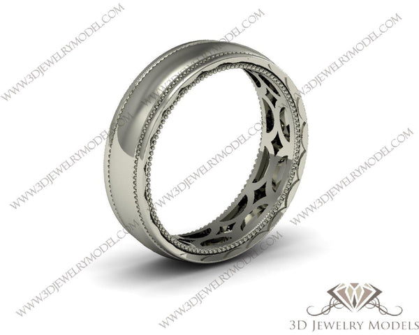 CAD CAM 3D JEWELRY MODELS 3DM STL FILES WAX 3D PRINTING RING 00456 - 3D Jewelry Models - 1