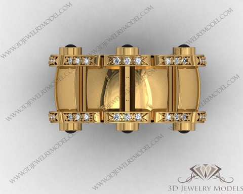 CAD CAM 3D JEWELRY MODELS 3DM STL FILES WAX 3D PRINTING RING 00500 - 3D Jewelry Models - 1
