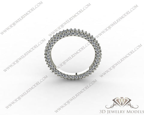 CAD CAM 3D JEWELRY MODELS 3DM STL FILES WAX 3D PRINTING RING ROUND 00277