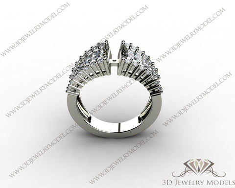 CAD CAM 3D JEWELRY MODELS 3DM STL FILES WAX 3D PRINTING RING ROUND 00455