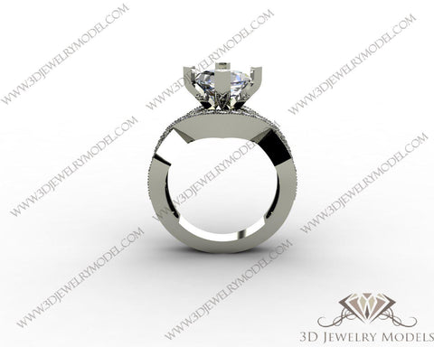 CAD CAM 3D JEWELRY MODELS 3DM STL FILES WAX 3D PRINTING RING ROUND 00077