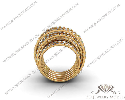 CAD CAM 3D JEWELRY MODELS 3DM STL FILES WAX 3D PRINTING RING ROUND 00152