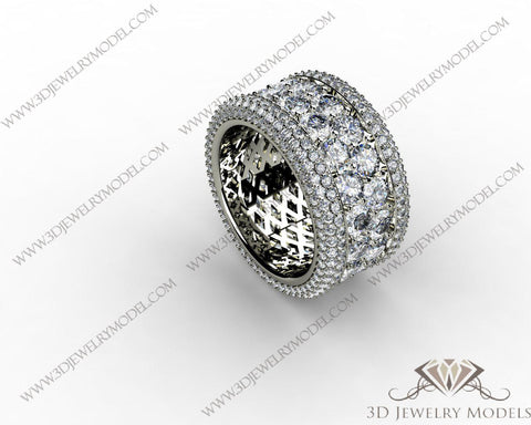 CAD CAM 3D JEWELRY MODELS 3DM STL FILES WAX 3D PRINTING RING ROUND 00174