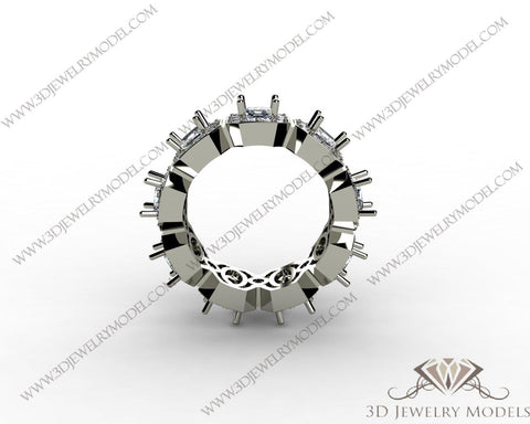 CAD CAM 3D JEWELRY MODELS 3DM STL FILES WAX 3D PRINTING RING CUSHION 00407