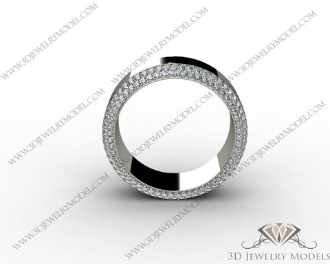CAD CAM 3D JEWELRY MODELS 3DM STL FILES WAX 3D PRINTING RING ROUND 00488