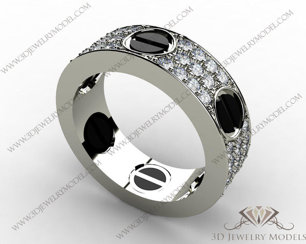 CAD CAM 3D JEWELRY MODELS 3DM STL FILES WAX 3D PRINTING RING 00126